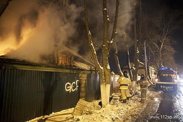 Сообщение о возгорании нежилого дома № 44 по улице Вифанская, что в Сергиевом Посаде