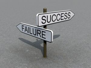 success & failure sign