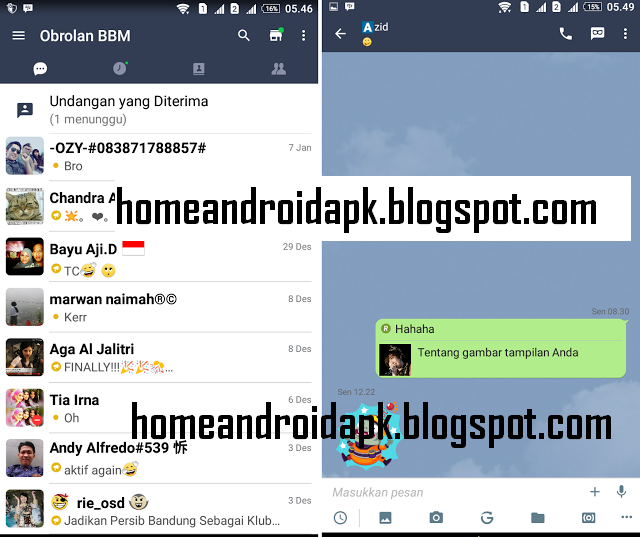 Download MOD BBM Theme Line Reborn Version  Download MOD BBM Theme Line Reborn V2.12.0.9