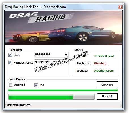 Drag Racing Hack Cheats Unlimited Cash And Respect Points | Dieorhack