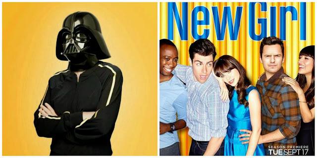 Carteles de las series Glee y New Girl
