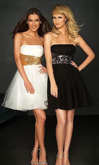Strapless+Empire+Semi+Formal+Dress