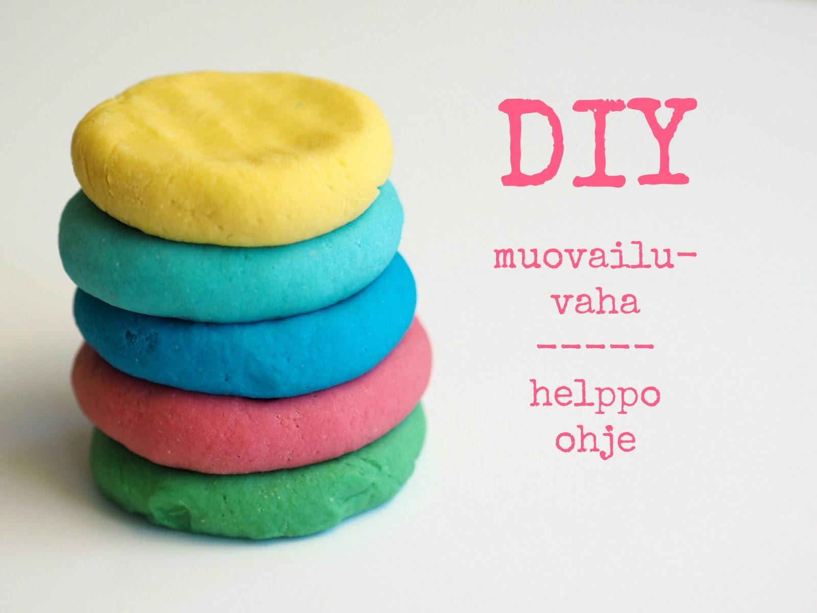 diy tsi itsetehty muovailuvaha play dough