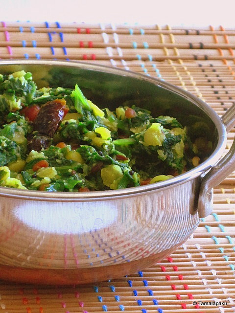 Spinach-Toor Dal Saute