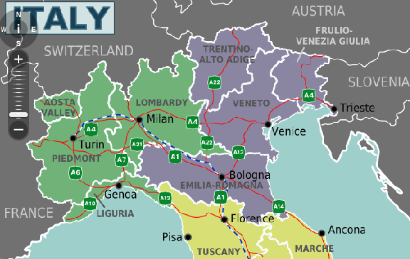 Northern Italy World Travel Map Download Books for Free PDF – Northern Italy Map Tourist