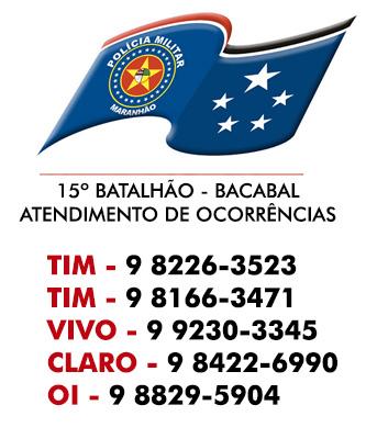 DISQUE POLÍCIA MILITAR DE BACABAL