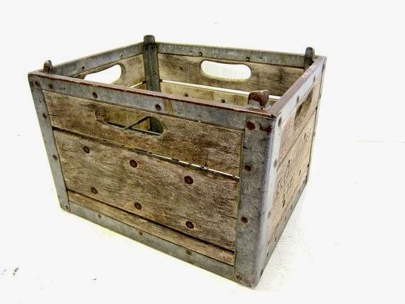 Antique Elyria Dairy Crate by Simply Country Home via Prodigal Pieces http://www.prodigalpieces.com
