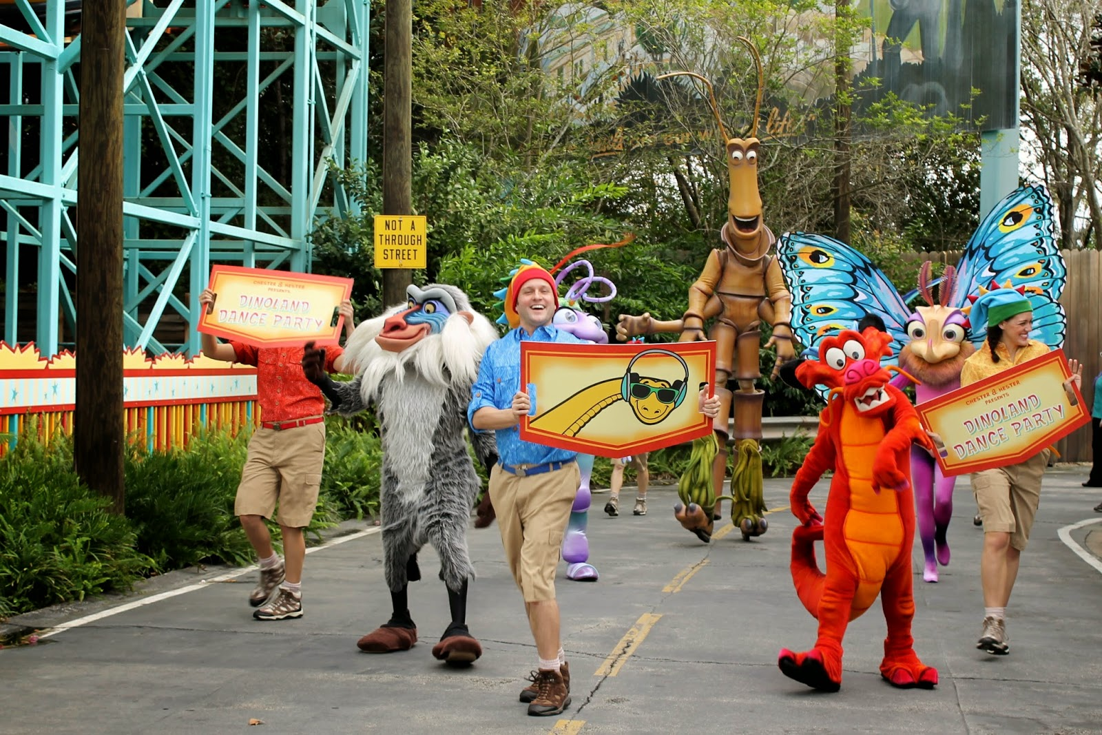 Disney Animal Kingdom Dinoland Dance Party