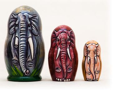 Matrjoska elefánt
