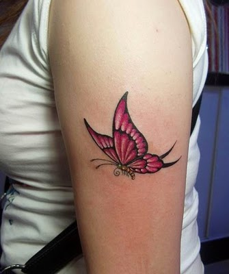 Butterfly Shoulder Tattoo