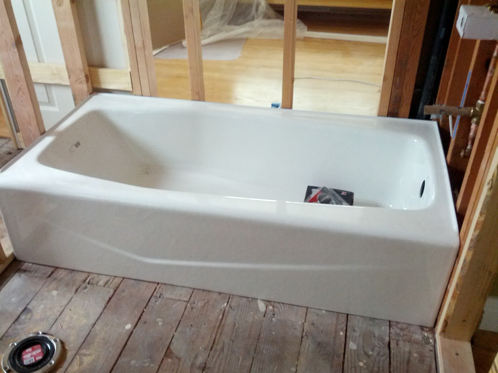 Fine Bathtub Reglazing Thick Reglazing Clean Refinish Bathtub Cost Bath Reglazing Youthful Plumbing A Bathtub OrangeHow To Repair Bathtub Little Red House: Rough In Inspection: Check!