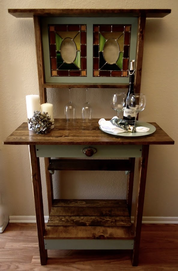 Stain Glass Accent Table - Available $225