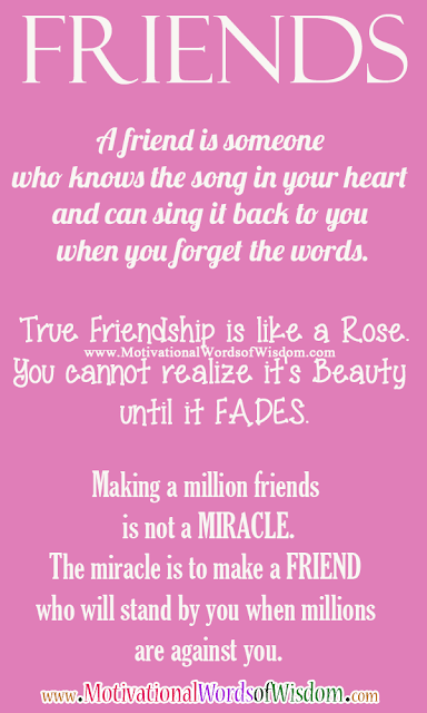 Friendship Quotes, Friendship Messages, Words Of Wisdom, Inspirational Words,  A Friend Is