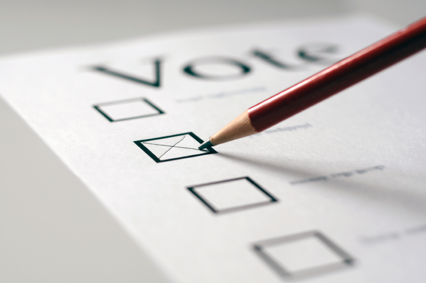 Blank voting ballot template yes elections are on the