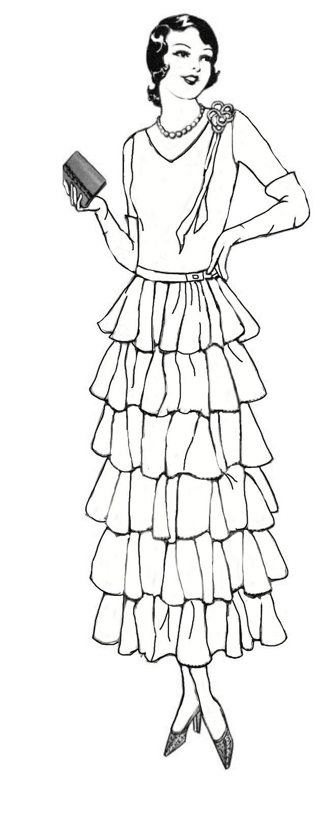 coloring pages 1920s - photo#2