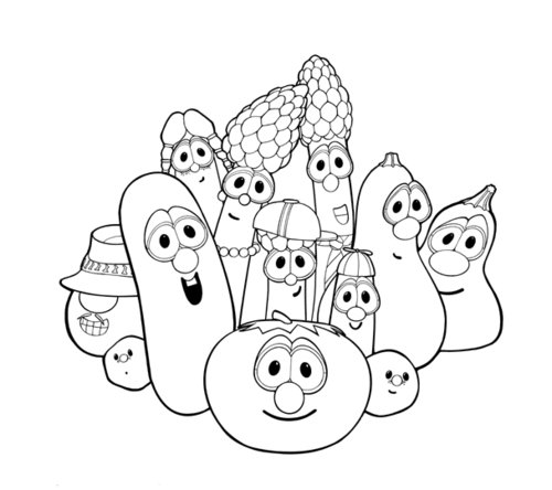 veggie tales coloring pages for kids - Free Veggie Tales Coloring Pages 2