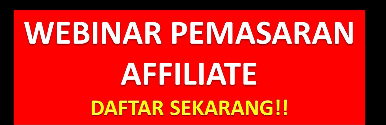 webinar percuma pemasaran affiliate