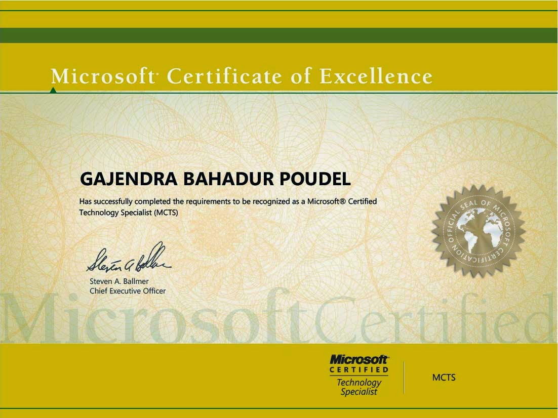 Gajendra Ccna Certificated Certificate