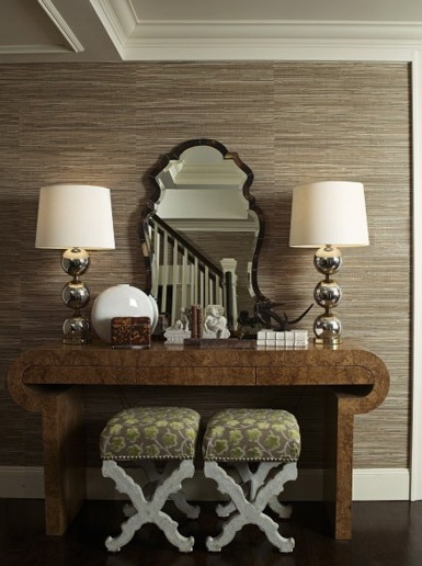 Better Homes And Gardens Antique Wallpaper Stripe : Antique homes and lifestyle wallpaper wednesday foyer hallway
