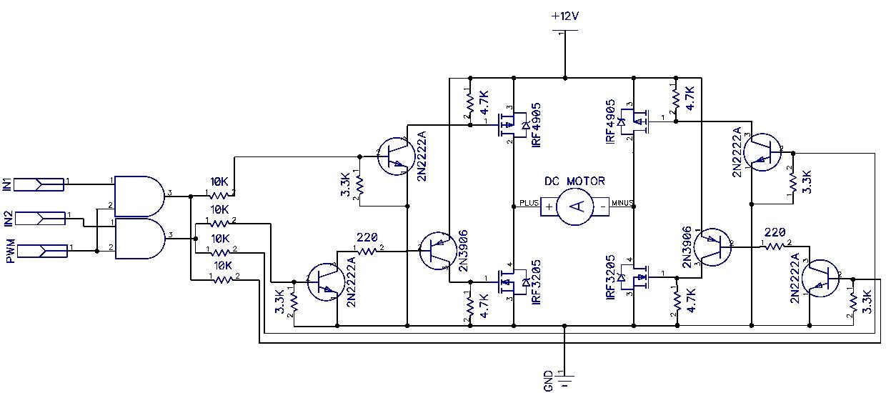 Electronics note arduino dc motor control 1 for Dc motor h bridge