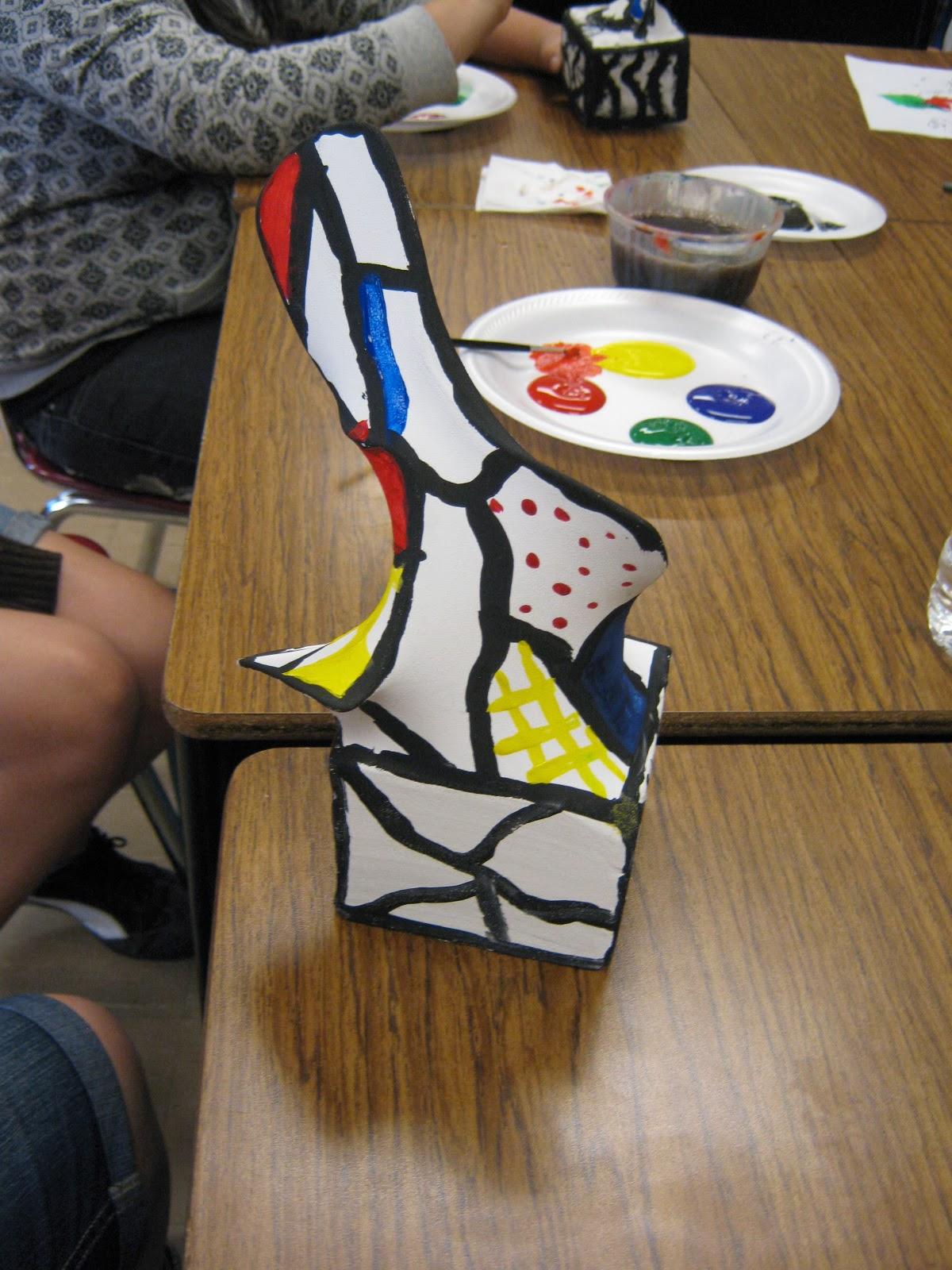 DeBuffet Sculptures With 6th Grade