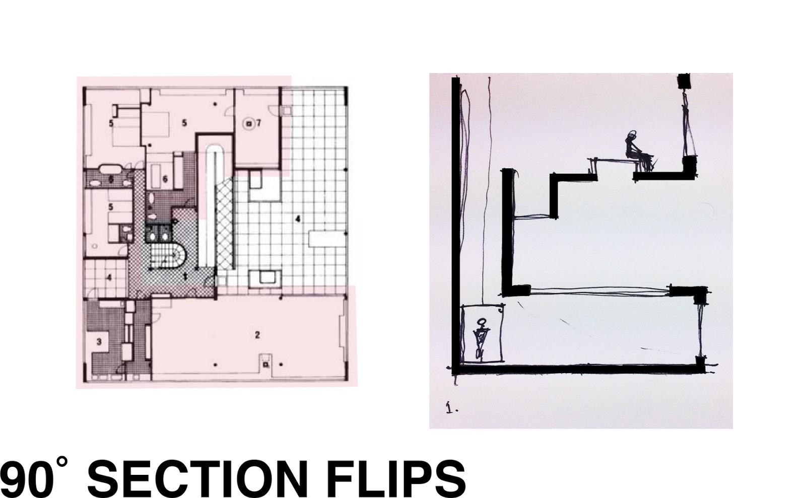 Section Flips of the Villa SavoyeVilla Savoye Section