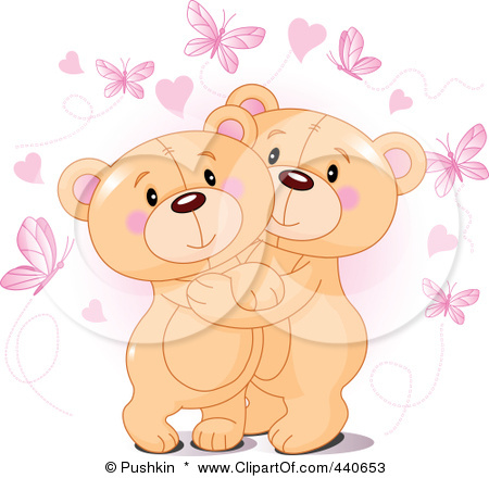 Cute Bears Hugging Hearts To make a teddy bear and/or
