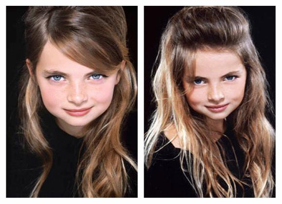 peinados para nenas look 2013