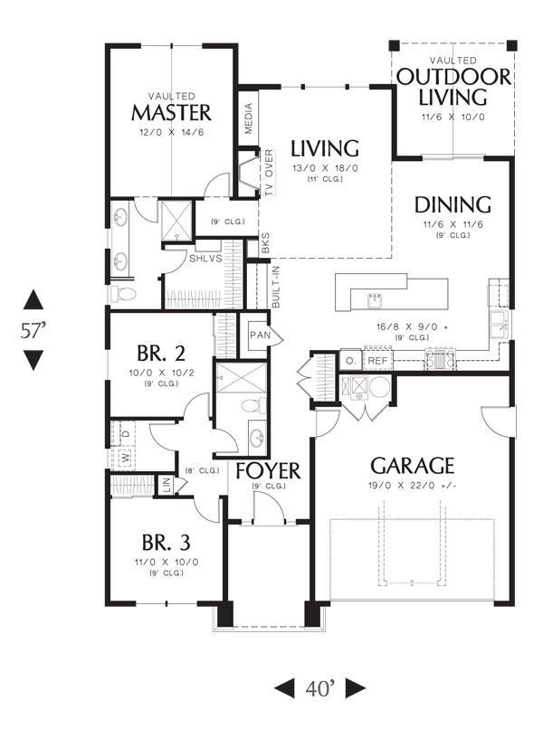 Planos casas modernas plano de casa de 100 metros cuadrados - Planos de casas de 100 metros cuadrados ...
