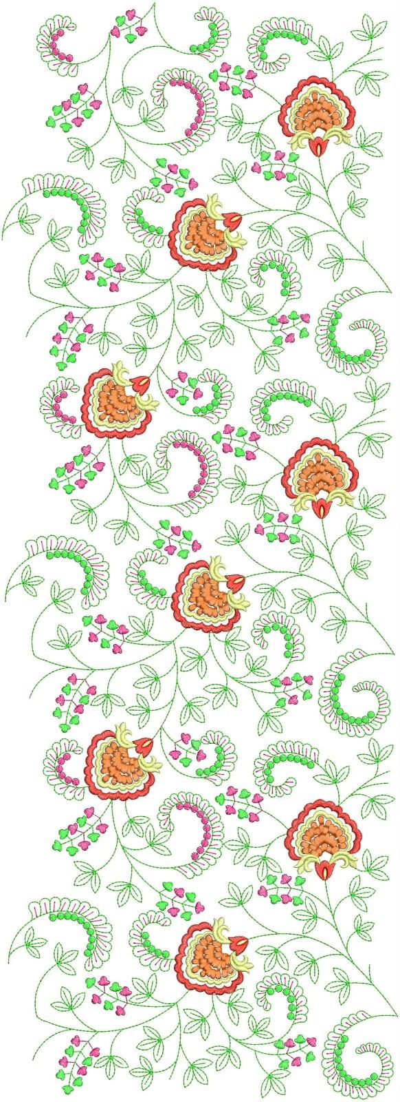 Embdesigntube modern curvy floral embroidery allover designs