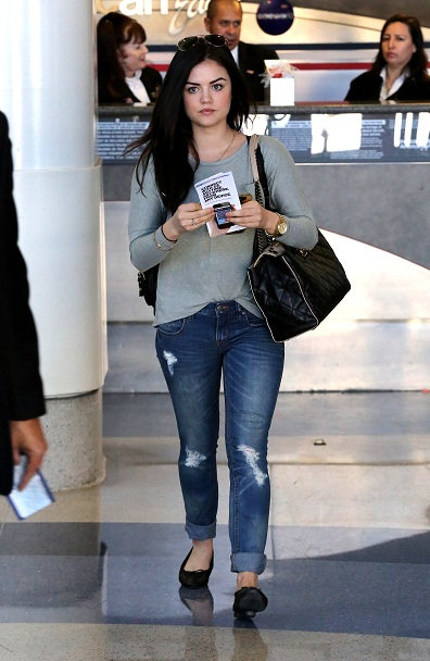 ew PPOm: Lucy Hale Airport Style 2013: Celebrity LAX Fashion