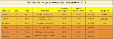 ✿ Activitats amb el Grup Foto Roquetes