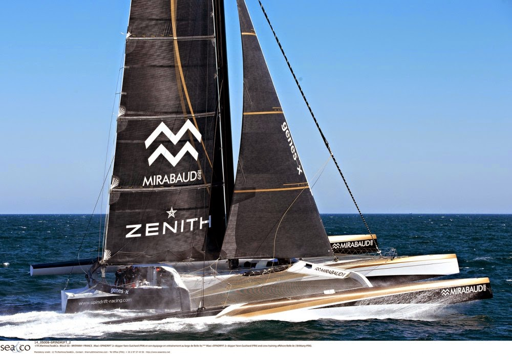 SailRaceWin: Route du Rhum : Spindrift 2 in her new configuration...