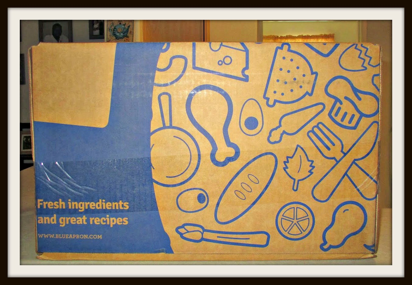 Blue apron yellow grits - This Blue Apron Box Was Delivered By Ontrac You Can Read About Our Previous Blue Apronshere