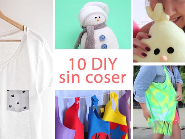 10 DIY geniales que puedes hacer sin coser