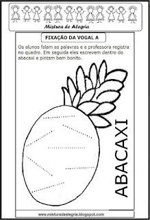 Desenho de abacaxi-escrever palavras