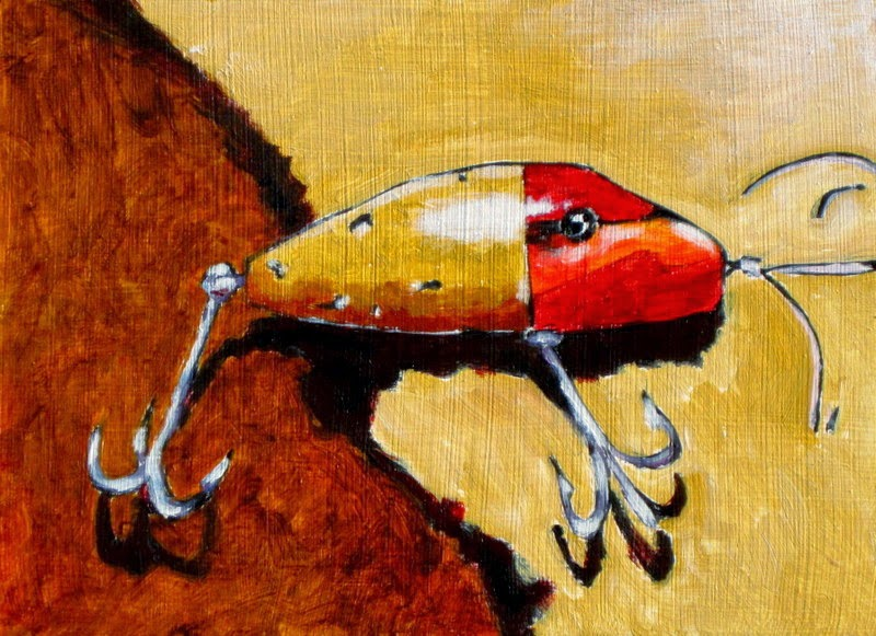 Bruce docker paintings the special lure fishing lure for Fishing lure paint