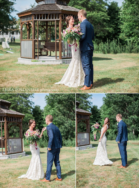 August backyard wedding