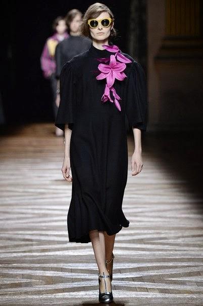 Paris Fashion Week Fall'14: Василиса Павлова в шоу Dries Van Noten, Lanvin, Ann Demeulemeester и Сhristian Dior.