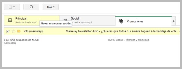 arreglar bandeja de entrada de gmail