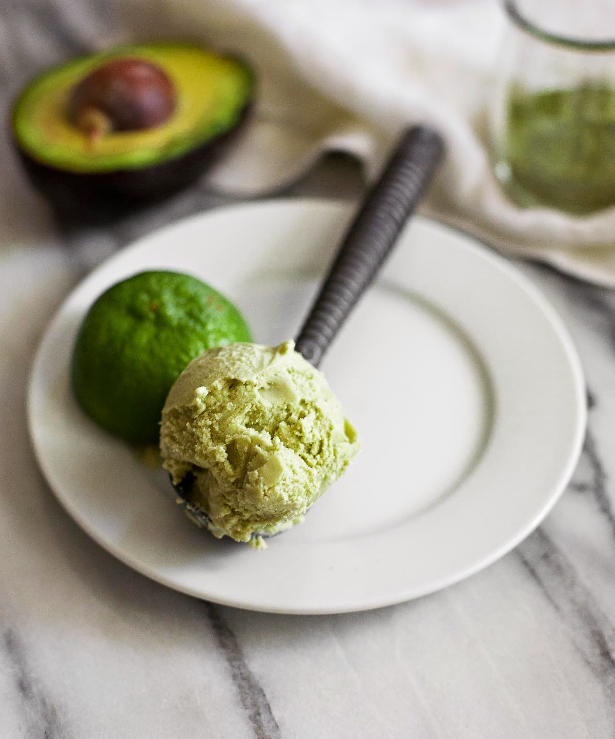 Matcha Avocado Ice Cream | acalculatedwhisk.com