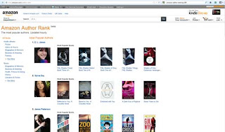 Amazon's Ranks Authors In Terms Of Their Book Sales