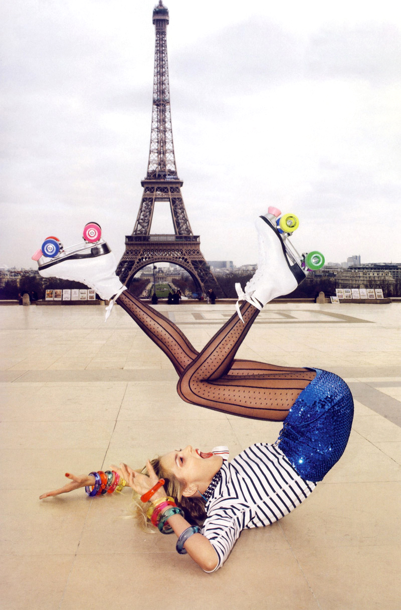 Anja Rubik in A toutes jambes / Vogue Paris June/July 2009 (photography: Terry Richardson, styling: Emmanuelle Alt) / fashioned by love british fashion blog