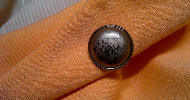 zara orange jacket details