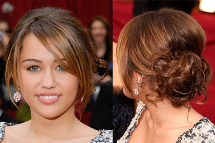 Makarizo hairstyle best long hairstyle pictures of miley cyrus miley cyrus long prom updo with bangs hairstyle pmusecretfo Images