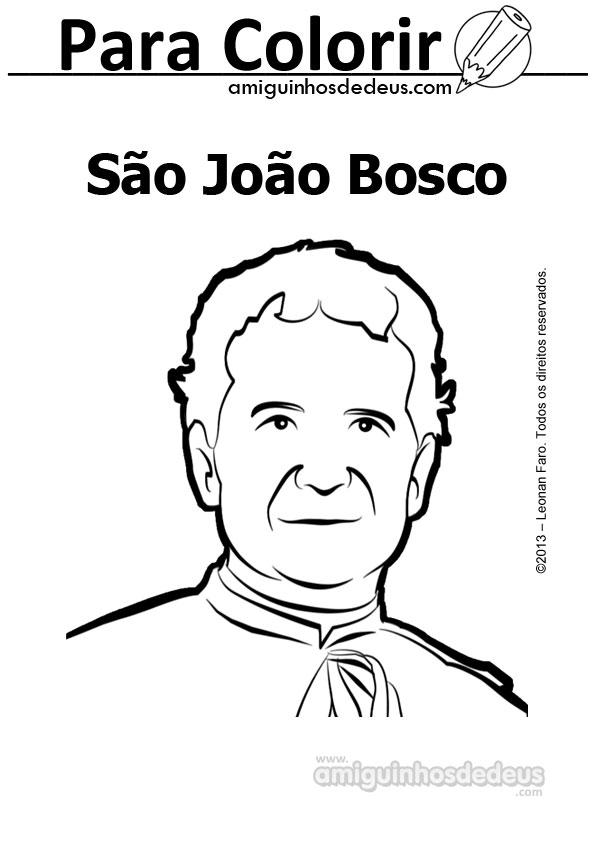 Dom Bosco desenho para colorir - São João Bosco