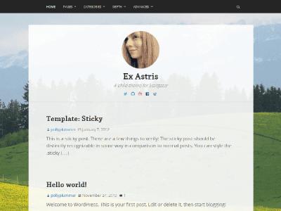Ex Astris WordPress Theme