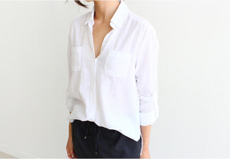 loose white linen shirt, oversized