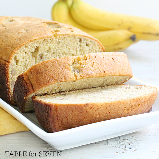 Cake Mix Banana Bread • Table for Seven