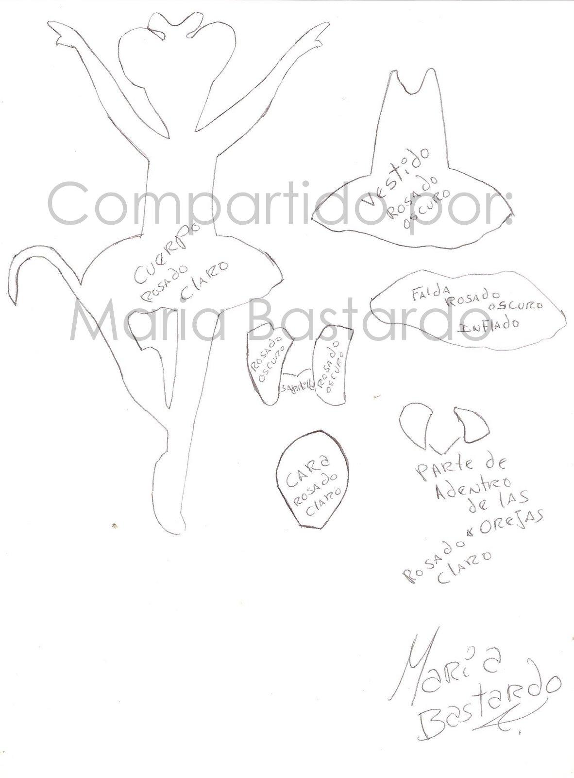 Pin Moldes De ♥ Angelina Ballerina Foami on Pinterest